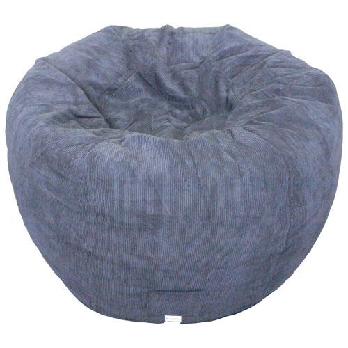 Contemporary Jumbo Corduroy Bean Bag Chair - Navy