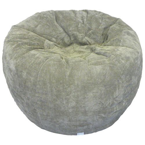 Contemporary Jumbo Corduroy Bean Bag Chair - Oregano