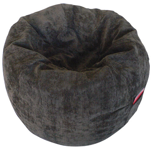 Contemporary Corduroy Bean Bag Chair - Chocolate