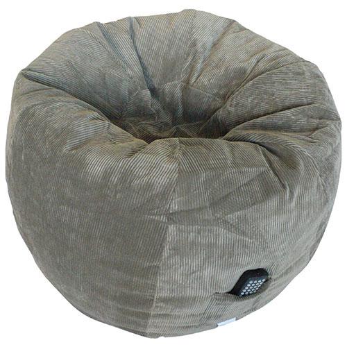 fauteuil poire contemporain en velours c tel gris. Black Bedroom Furniture Sets. Home Design Ideas