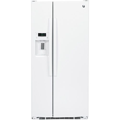 """GE 33"""" 23.1 Cu. Ft. Side-By-Side Refrigerator (GSS23HGHWW) - White"""