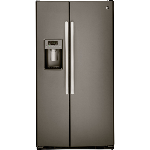 """GE 33"""" 23.1 Cu. Ft. Side-By-Side Refrigerator (GSS23HMHES) - Slate"""