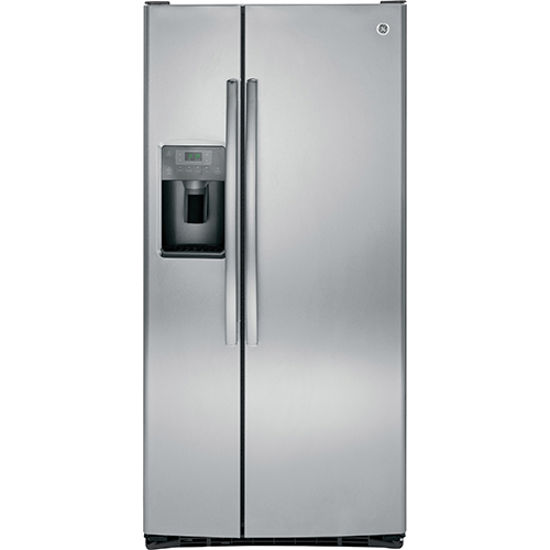 Réfrigérateur à congélateur juxtaposé de 33 po et 23,1 pi3 de GE (GSS23HSHSS) - Acier inoxydable