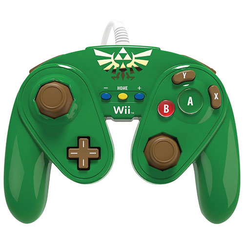 PDP Link Wired Fight Pad for Wii U - Green