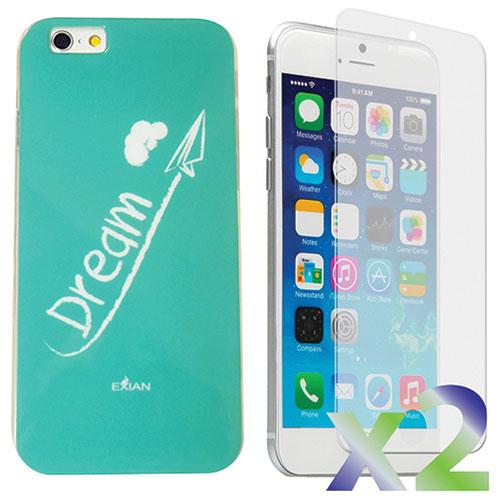 Étui Dream d'Exian pour iPhone 6 avec protecteur d'écran - Aqua
