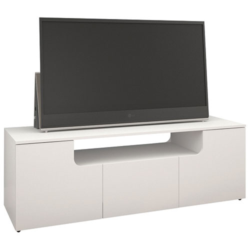Nexera Arobas Tv Stand For Tvs Up To 60 White Tv Stands Best