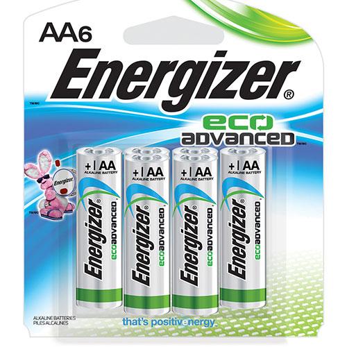 Pile AA EcoAdvanced d'Energizer (XR91BP6) - Paquet de 6
