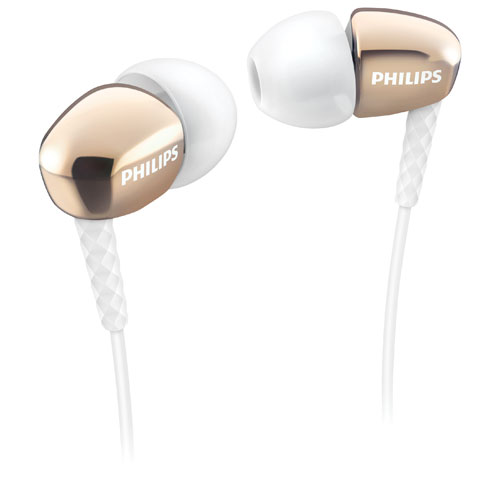 Philips In-Ear Sound Isolating Headphones (SHE3900GD/27) - Gold