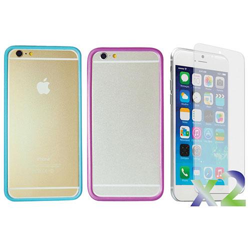 Étui souple ajusté d'Exian pour iPhone 6/6s - Bleu-violet