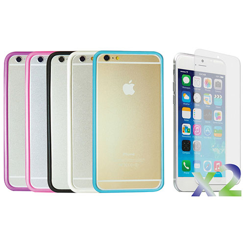 Exian iPhone 6 Fitted Soft Shell Case - Black/ Blue/ Pink/ Purple/ White