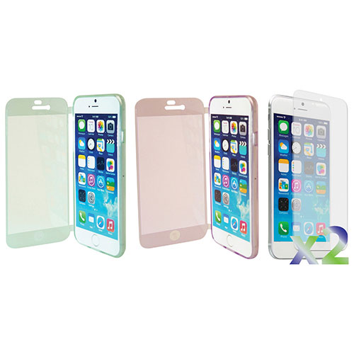 Exian iPhone 6 Fitted Soft Shell Case - Green/ Purple