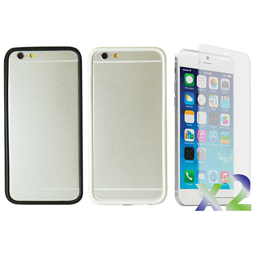 Exian iPhone 6/6s Fitted Soft Shell Case - Black/ White