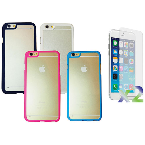 Exian iPhone 6 Fitted Hard Shell Case - Black/ White/ Blue/ Pink