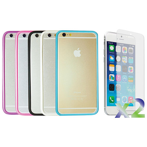 Exian iPhone 6 Plus Fitted Soft Shell Case - 5 Pack - Assorted Colours