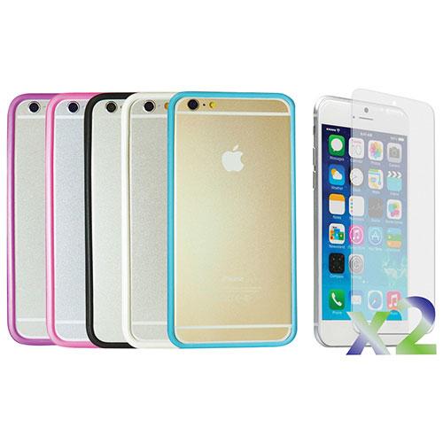 Étui souple ajusté d'Exian pour iPhone 6 Plus - Paquet de 5 - Couleurs assorties
