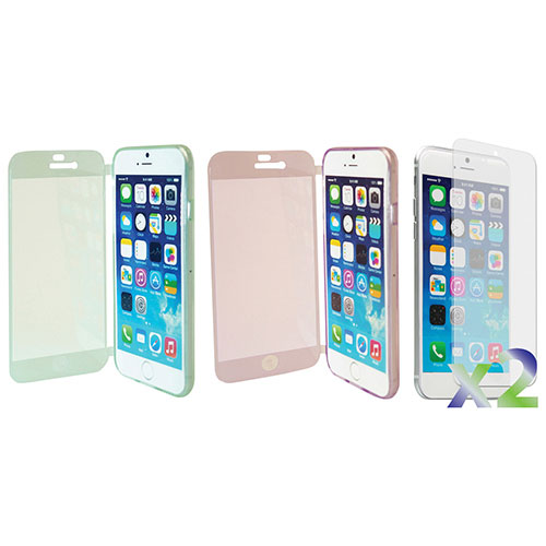 Exian iPhone 6 Plus Fitted Soft Shell Case - 2 Pack - Green/Purple