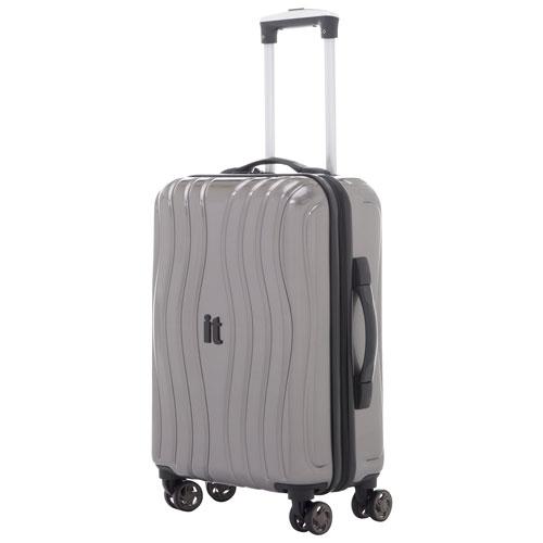 17c2eea394 Bagage de cabine rigide de 21 po à 4 roulettes Doppler d IT Luggage -  Anthracite   Bagages de cabine - Best Buy Canada