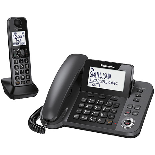 Panasonic 1-Handset DECT 6.0 Corded/Cordless Phone with ...