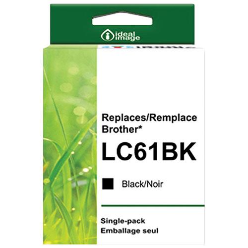 Cartouche d'encre noire d'ideal image pour Brother (BB-LC61BK)