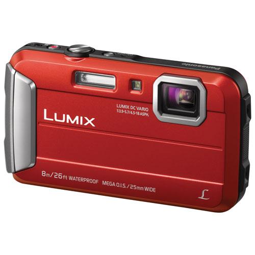 App. photo num. étanche/antichoc LUMIX DMC-TS30R 16,1 Mpx de Panasonic avec zoom optique 4x - Rouge