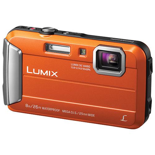 Panasonic LUMIX DMC-TS30D Waterproof/Shockproof 16.1MP 4x Optical Zoom Digital Camera - Orange