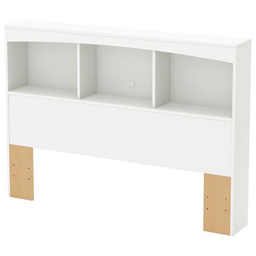 T te de lit biblioth que contemporaine step one pour lit double blanc pur t tes de lit et - Tete de lit contemporaine ...