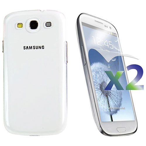 Exian Galaxy S III Case With Screen Protector - Clear