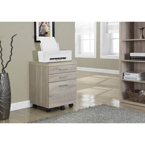 Monarch 3-Drawer Vertical Filing Cabinet - Natural : Filing ...