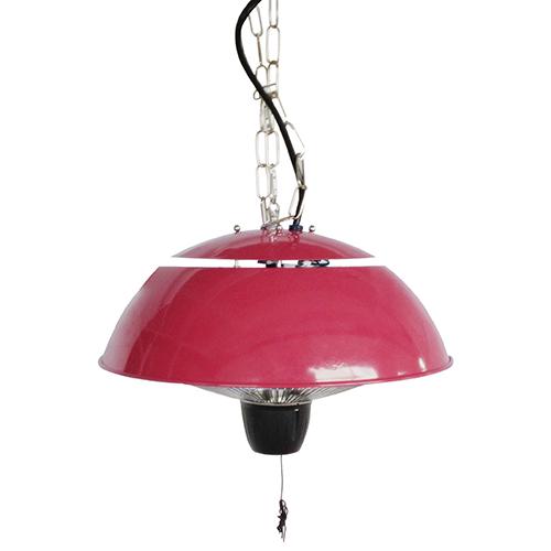 Chaufferette ronde suspendue à infrarouges pour pavillon de Paramount - 5 118 BTU - Rouge rubis