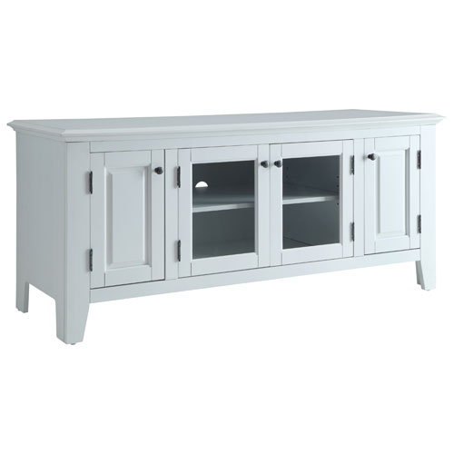 marcus tv stand for tvs up to 55 mc70055 white tv stands best buy canada. Black Bedroom Furniture Sets. Home Design Ideas