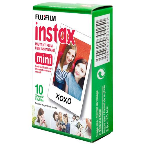 Pellicule à développement instantané Instax Mini de Fujifilm - Paquet de 10 - Noir