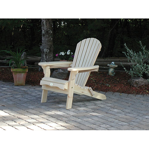 Chaise de patio traditionnelle Adirondack (BC300P) - Pin blanc