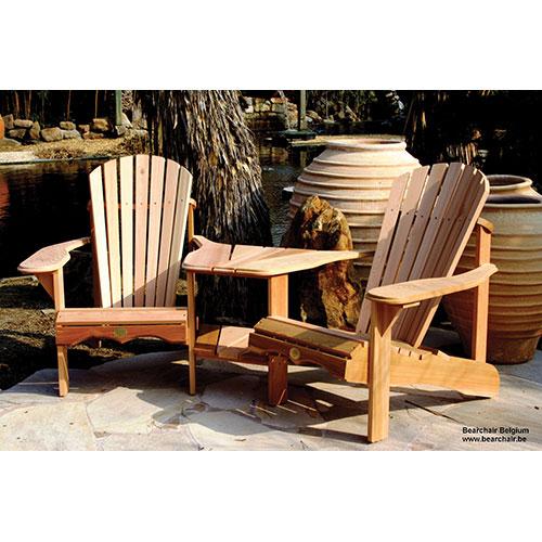 Chaise de patio traditionnelle Adirondack - Ensemble de 2 - Cèdre rouge