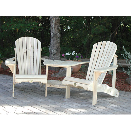 Traditional Patio Adirondack Chair Set Of 2 White Pine Patio