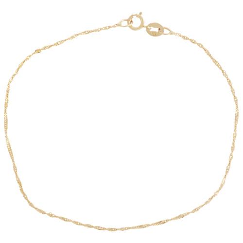 Classic 10k Gold Diamond Cut Singapore Bracelet Bracelets Best