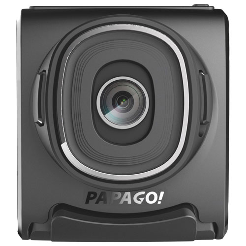 Papago LORA Full HD 1080p Dashcam with Slide-Out Screen, 8GB MicroSD & GPS ready (GS381)