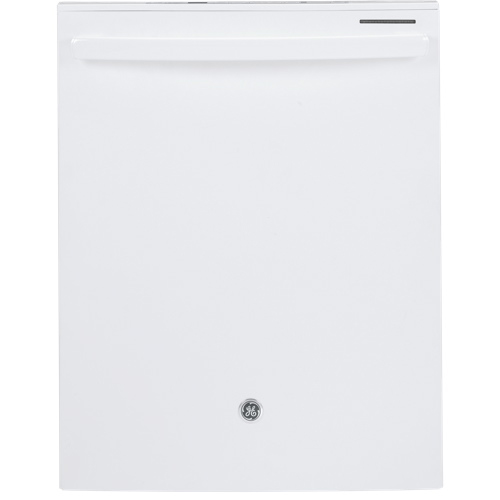 "GE 24"" 48 dB Built-In Dishwasher with Stainless Steel Tub (GDT650SGFWW) - White"