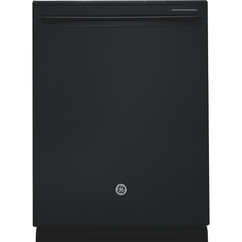 """GE 24"""" 48 dB Built-In Dishwasher with Stainless Steel Tub (GDT650SGFBB) - Black"""