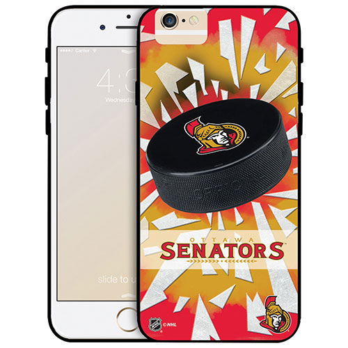 NHL Ottawa Senators iPhone 6 Fitted Hard Shell Case - Puck Shatter