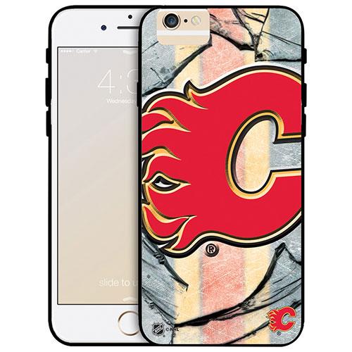 Étui rigide ajusté des Flames de Calgary de la LNH pour iPhone 6 Plus - Grand logo