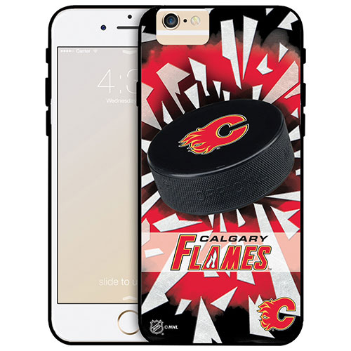 NHL Calgary Flames iPhone 6 Plus Fitted Hard Shell Case - Puck Shatter
