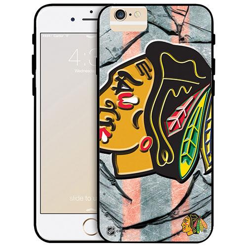 Étui rigide ajusté des Blackhawks de Chicago de la LNH pour iPhone 6 Plus - Grand logo