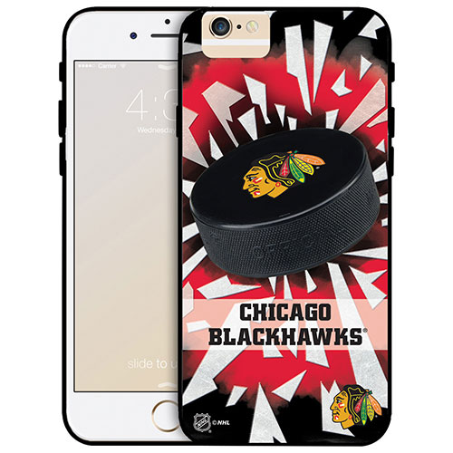 NHL Chicago Blackhawks iPhone 6 Plus Fitted Hard Shell Case - Puck Shatter