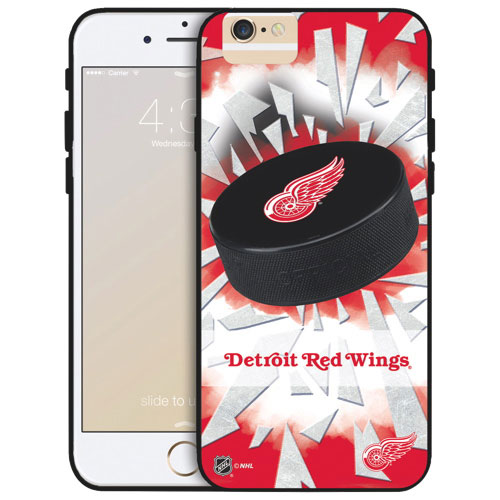 NHL Detroit Red Wings iPhone 6 Plus Fitted Hard Shell Case - Puck Shatter