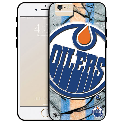 NHL Detroit Edmonton Oilers iPhone 6 Plus Fitted Hard Shell Case - Large Logo