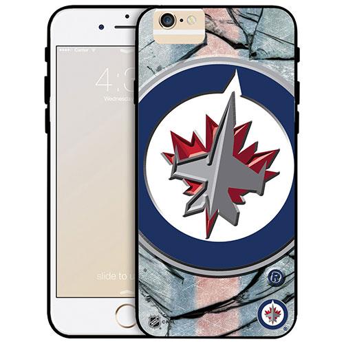 Étui rigide ajusté des Jets de Winnipeg de la LNH pour iPhone 6 Plus - Grand logo