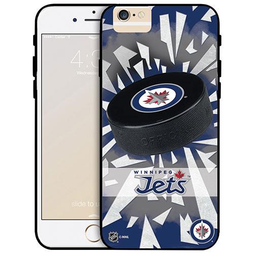 Étui rigide ajusté des Jets de Winnipeg de la LNH pour iPhone 6 Plus - Rondelle
