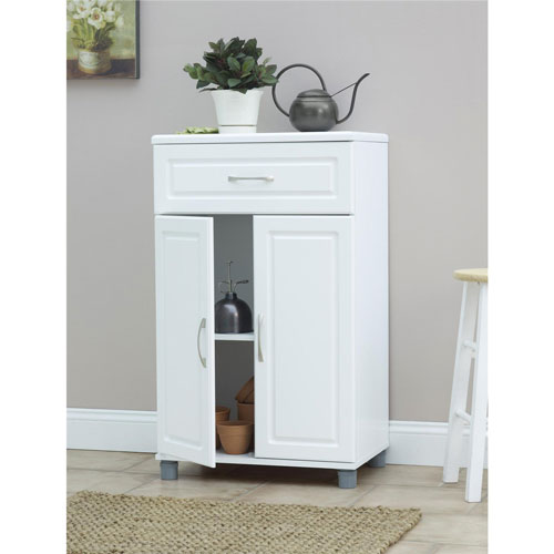 2 Door Storage Cabinet With Drawer   White : Filing Cabinets U0026 Office  Storage   Best Buy Canada