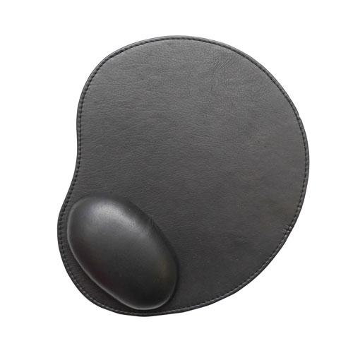 Tapis de souris en cuir d'Ashlin - Noir