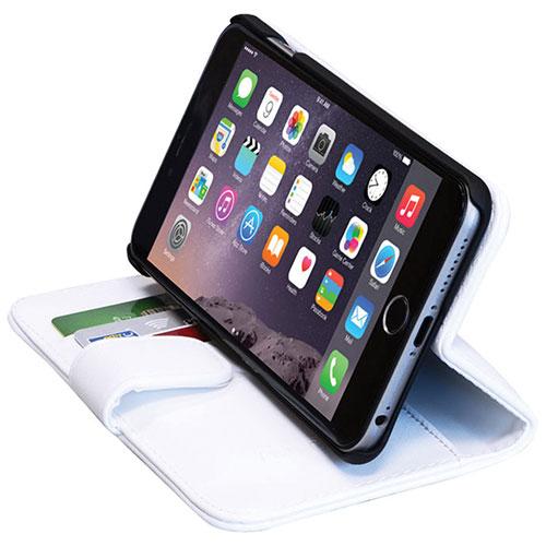 Étui folio portefeuille en cuir de GelGrip pour iPhone 6/6s Plus - Blanc
